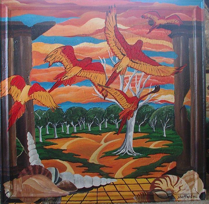 parrots - Sheffield Art