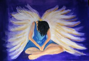 Bowing Angel