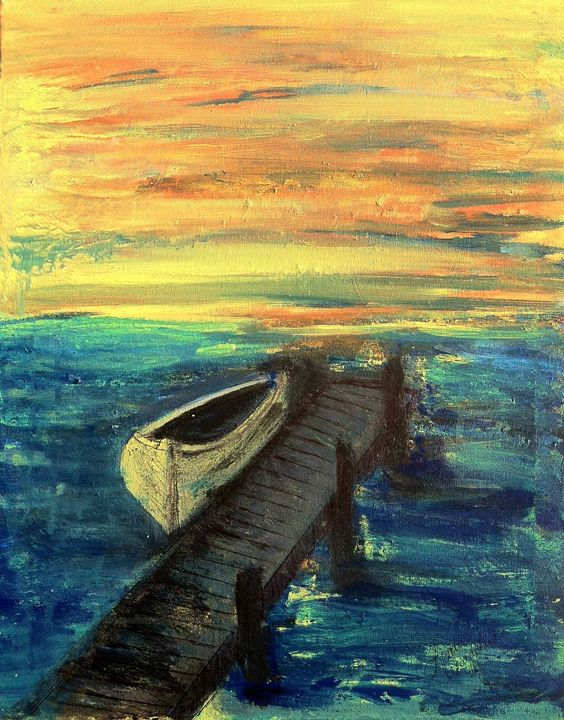 The Boat At The End of The Dock - Linda Waidelich