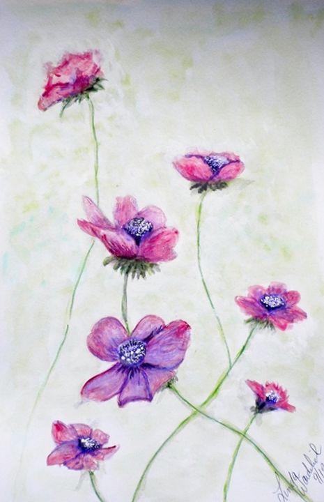 Purple Wildflowers - Linda Waidelich