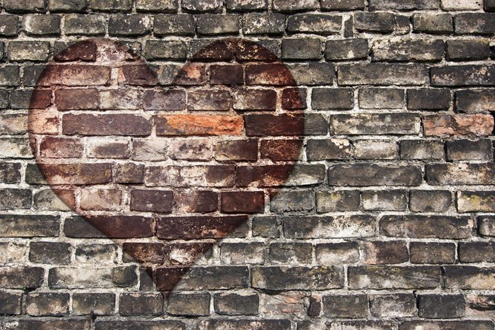 heart on the old wall - Art Gallery