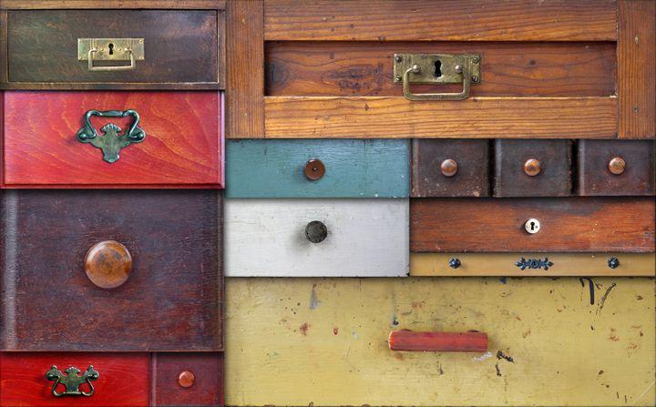 in utter secrecy - various drawers - Art Gallery