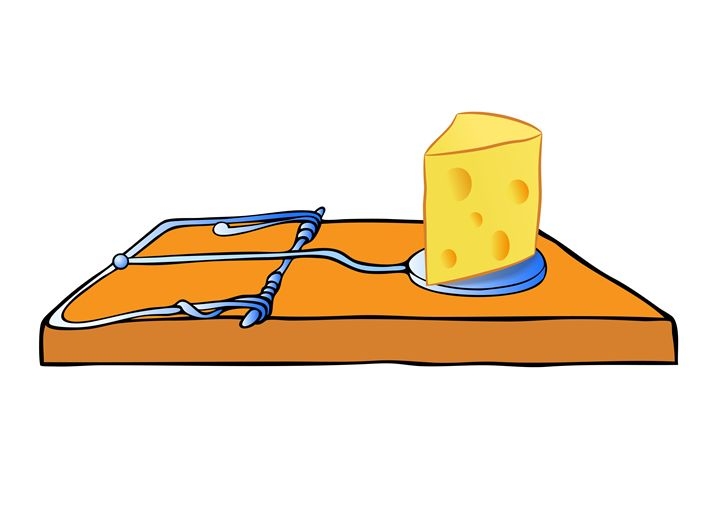 mousetrap with cheese - Art Gallery