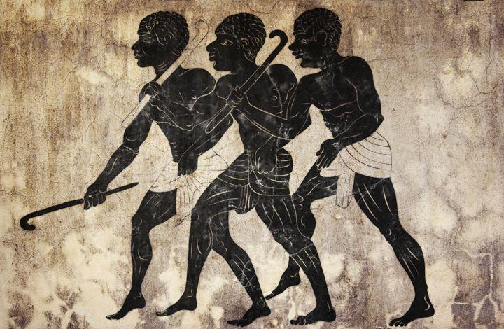 fresco - hunters - Art Gallery