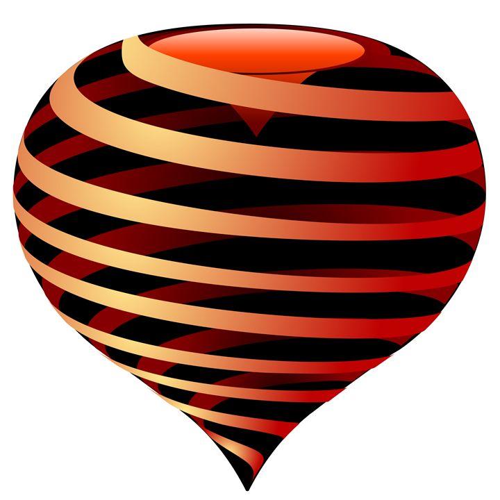 striped heart - Art Gallery
