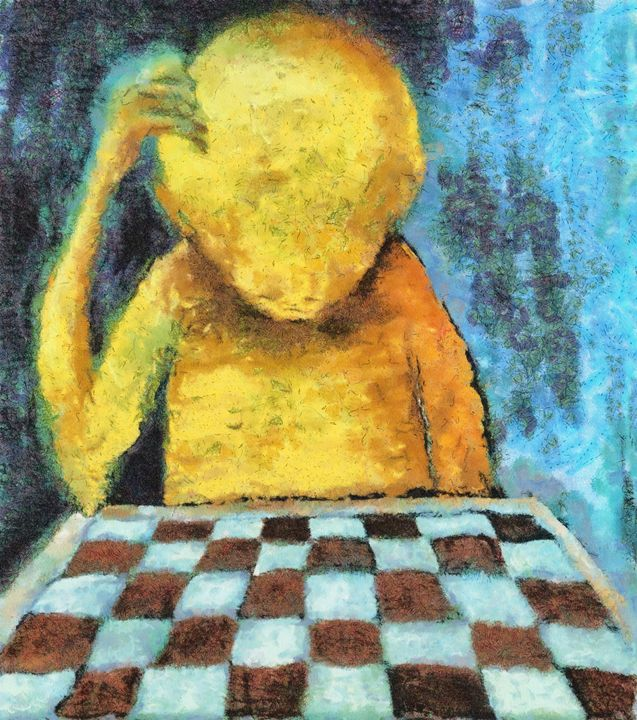 lonesome chess player - Art Gallery