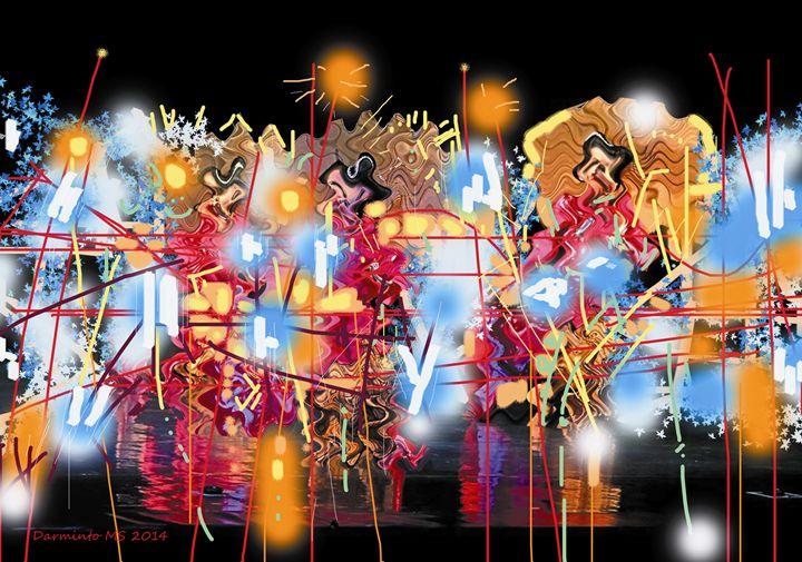 Abstraction Three Princes - Darminto Art Gallery