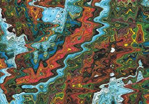 Indonesia Batik Abstraction