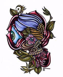 Floral Skull !