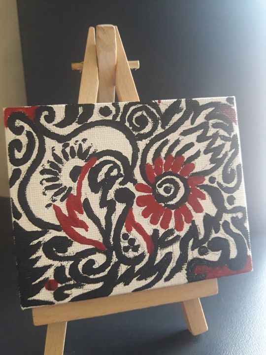 Miniature ethnic acrylic work - Jay's Art