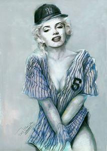Marilyn Monroe with Yankee Jersey