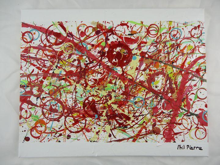 Red Bubbles 001 - Phil Pierre