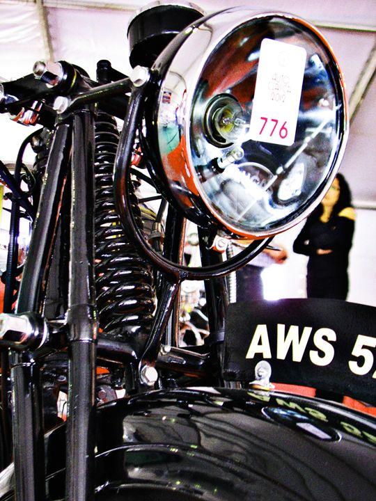 AWS 5 vintage motorcycle front view - Felix Padrosa