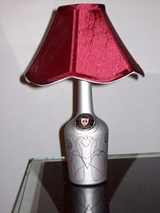 VW Wolfsburg Wine bottle lamp