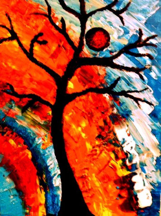 Tree, An Abstract - Anna Savage Fine Art