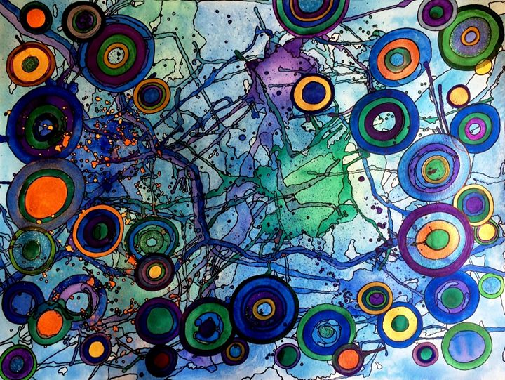 Synapses of a Color Theorists Brain - Anna Savage Fine Art