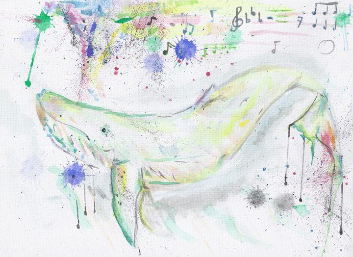 whalesongs - jason mixed media art
