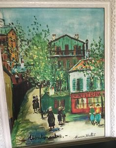 Montmartre In Paris By Maurice Utril
