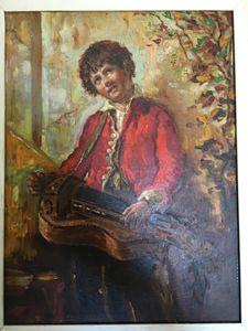 Bernado Strozzi 1800 Musician boy