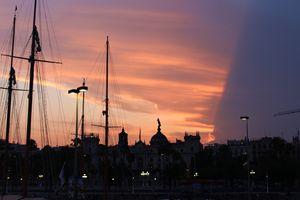 Sunset on Barceloneta