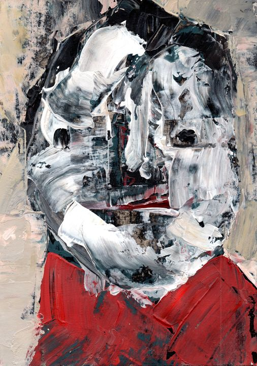 Portrait in a red coat - Paulina Archambault