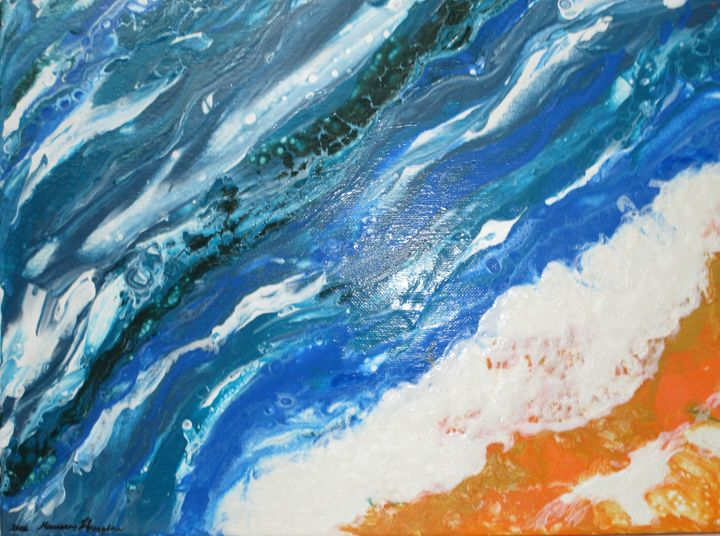 Sand and Sea - Art by Maureen Hanaghan