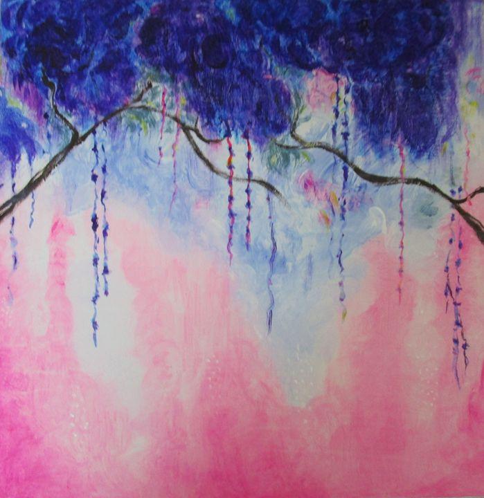 Blue Flowers - Art by Maureen Hanaghan