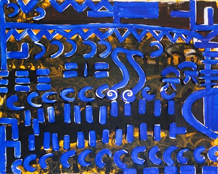 "Deceptors 24""x30"" - Art by Ginny Rossin"