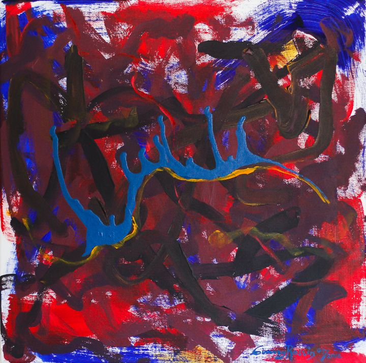 """Freed from Exile! Out 20""""x20"""" - Art by Ginny Rossin"""