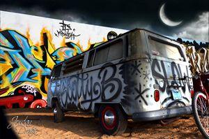 VW Bus Waycross GA Music Fest