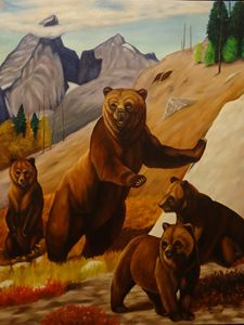 Bears in the Mountains Original
