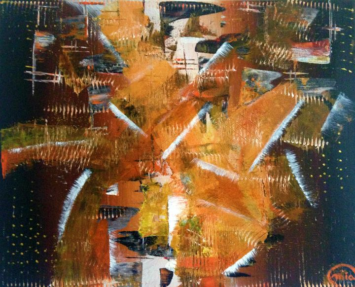 Abstract Painting on canvas - Abstract on Paper