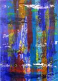 Abstract Painting Colorful Free Form