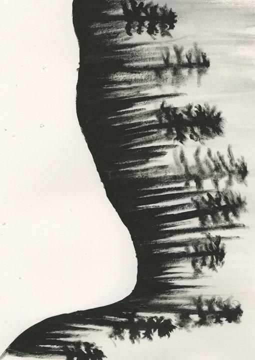 Pine Tree Silhouette - Caitlyn Sundell