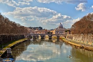 Saint Peter's Across the Tiber