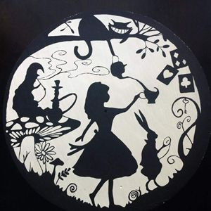 Alice Wonderland Shadow Art
