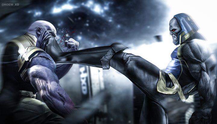 thanos vs darkseid - Dreggar
