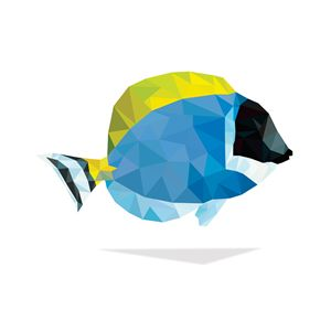 Geometric Abstract Powder Blue Tang