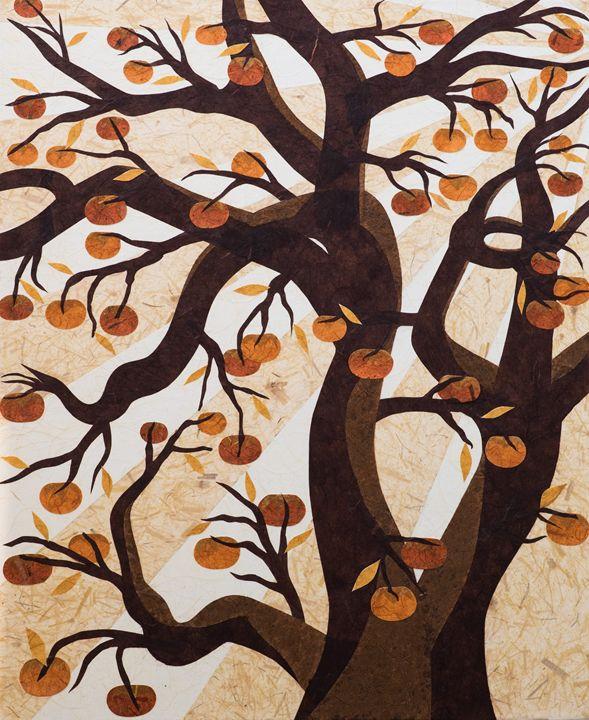 Persimmon Tree - Hanji Inspired