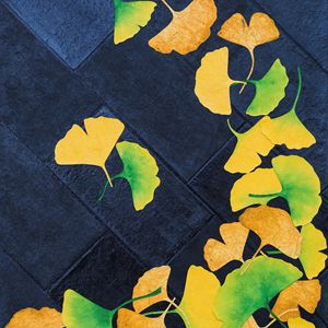 Ginkgo Leaves on Pavement