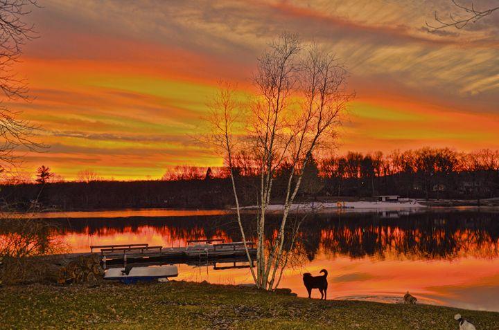 Winter sunset on the lake - PhotosbyNan