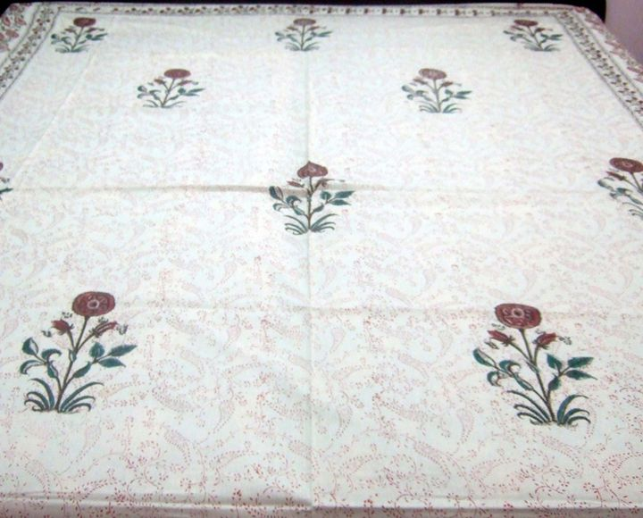 King Hand Block Printed Bed Sheet - Handicrafts House