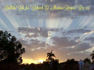 HalleluYah Yahweh Reigns!