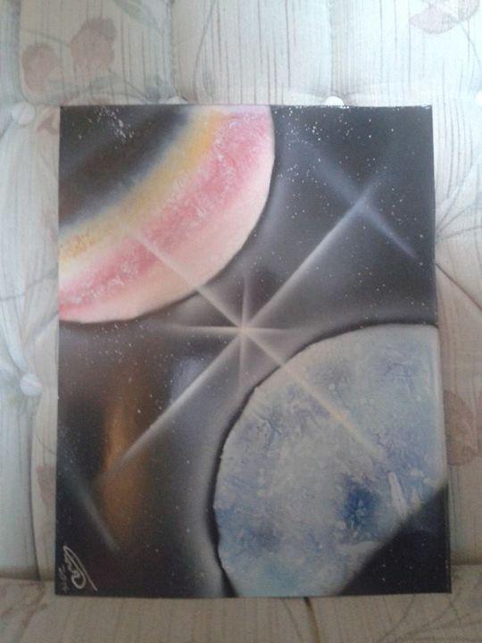 SPACE ART - SPRAY PAINT ART