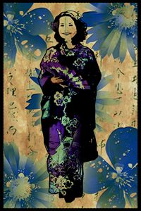 Geisha - Blue Elegance