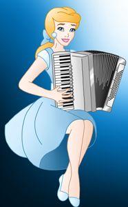 Princess Cinderella With Accordion