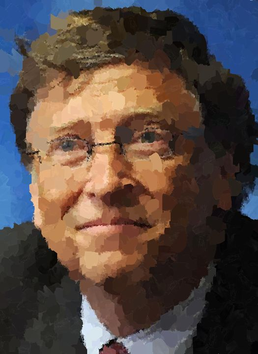 Bill Gates Portrait - Portraits by Samuel Majcen