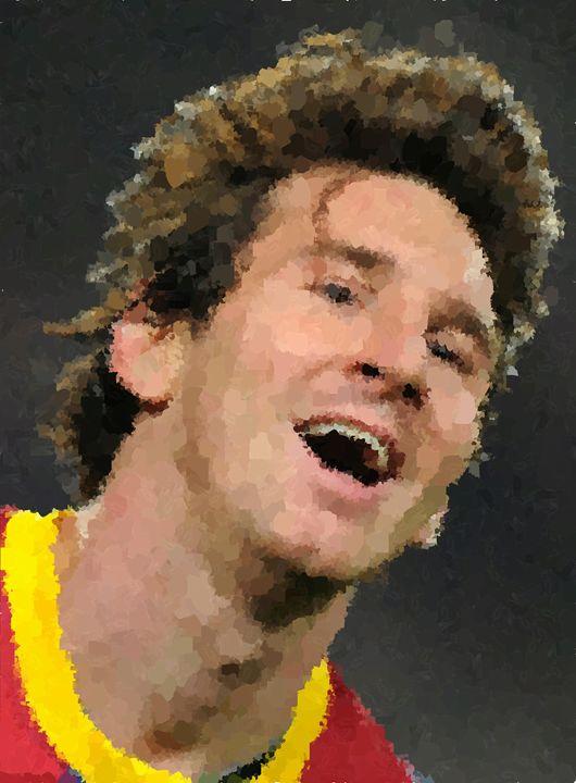 Lionel Messi Portrait - Portraits by Samuel Majcen