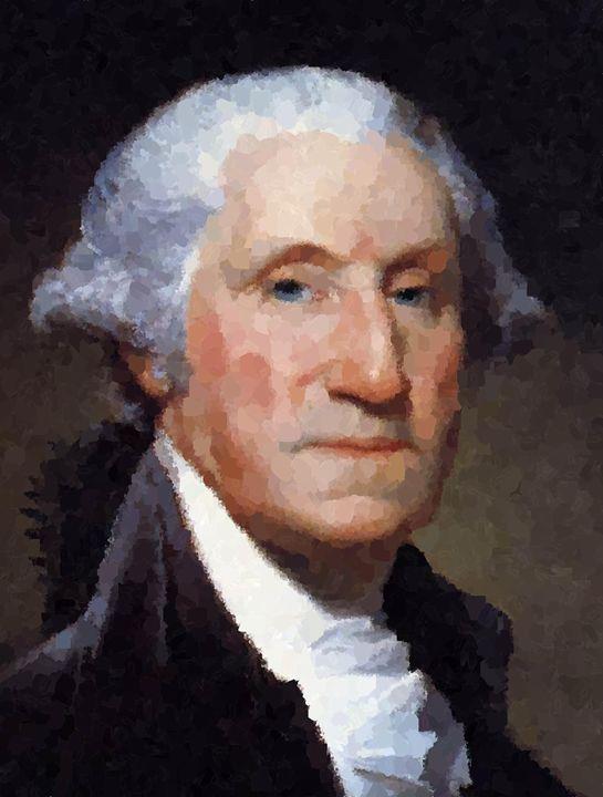 George Washington Portrait - Portraits by Samuel Majcen