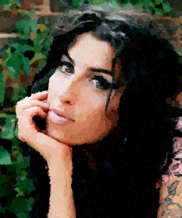Amy Winehouse Portrait - Portraits by Samuel Majcen